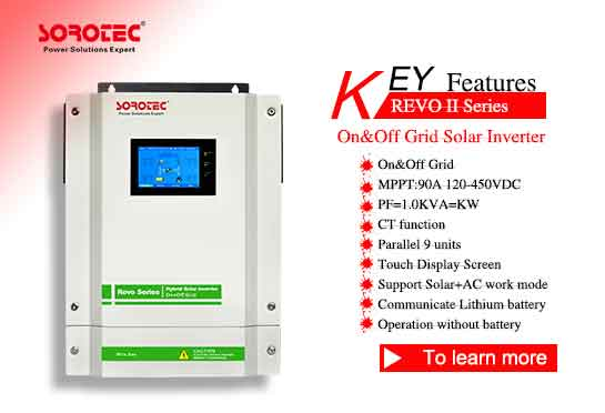 REVO-II Energy Storage Inverter with Touch Screen On/Off Gird