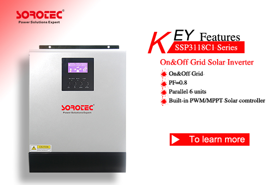 Off Grid High Frequency Pure Sine Wave Solar Inverter SSP3118C1