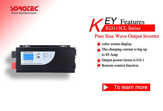 Pure Sine Wave Output Power Inverter IG3115CL 1-6KVA