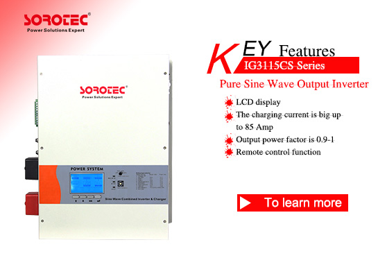 Pure Sine Wave Output Power Inverter IG3115CS 1-12KVA