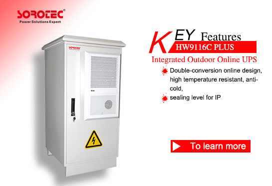 High Frequency Outdoor Online UPS HW9116C PlUS  1-10KVA with Air Conditioning