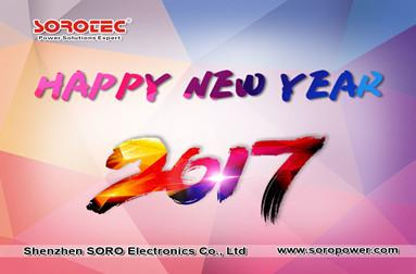 SOROTEC Wish You Happy New Year 2018